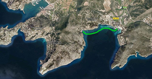 Google Maps Fundort Cala Blanca richtig